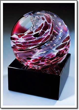 Burgundy Python Art Glass Award