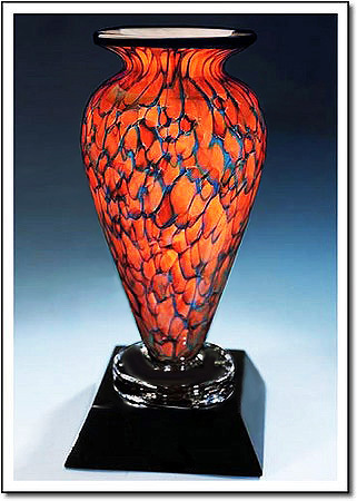 Indigo Monarch Athena Art Glass Award
