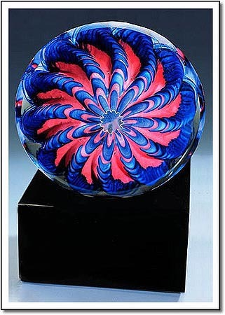 Arctic Flame Urchin Art Glass Award