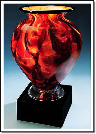 Burning Ember Cauldron Art Glass Award