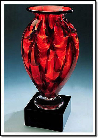 Diamond Ember Mercury Art Glass Award