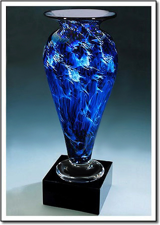 Midnight Tempest Athena Art Glass Award