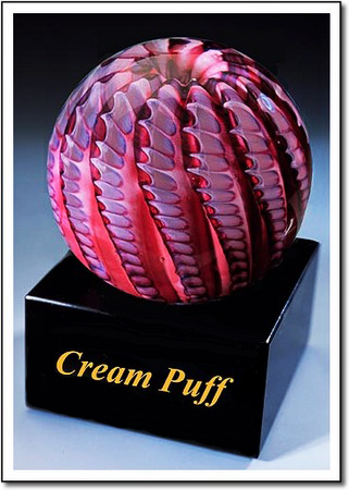 Cream Puff Art Glass Award