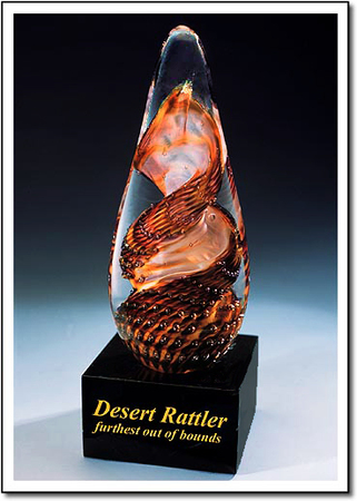 Desert Rattler Art Glass Award