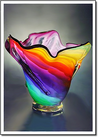 Lavender Rainbow Art Glass Award