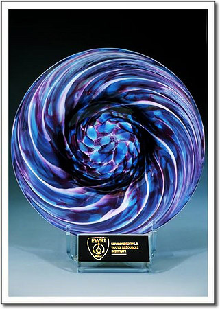 Lavender Whirlpool Art Glass Award