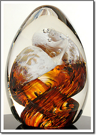 Amber Curl Art Glass Award