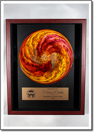 Rondelle Shadow Box Art Glass Award