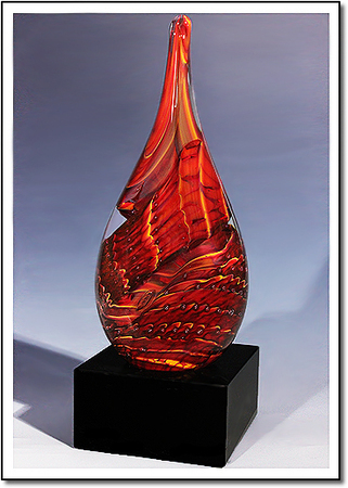 Glowing Ember Art Glass Award