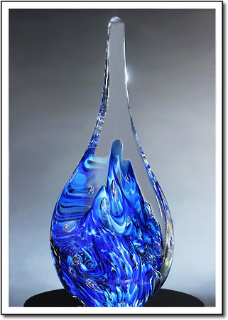 Blue Ice Mountain Art Glass Award