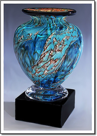 Glacier Dragon Cauldron Art Glass Award