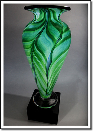 Jade Leaf Athena Art Glass Award