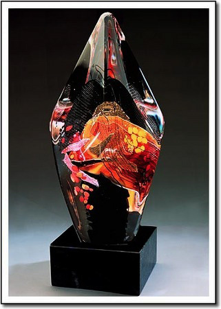Scarlet Facet Collage Art Glass Award